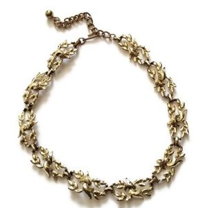 1950s Coro Gold Vintage Choker Necklace